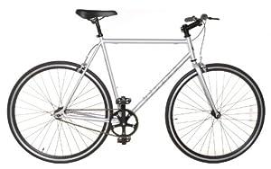 Fixed Gear Single Speed Track Bike - Fixie Medium 54cm Silver