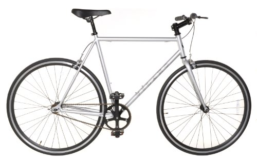 Fixed Gear Single Speed Track Bike - Fixie Medium 54cm Silver