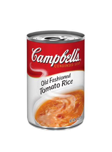 Campbell's Red & White Old Fashioned Tomato Rice Soup, 11-Ounce Cans (Pack of 12)
