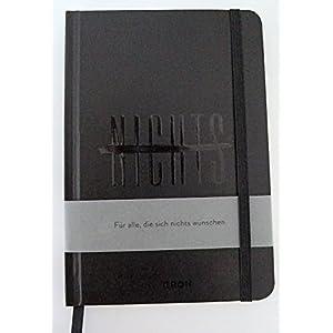Notizbuch NICHTS schwarz: Für alle, die sich nichts gewünscht haben. 12,3 x 17,7 cm
