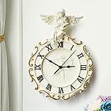 QHY nc0320 ciseaux de coupe de cheveux signe boutique de peigne au néon conduit horloge murale , Red...