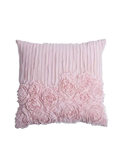 Rizzy Home Soft Pink Rose Blossom Throw Pillow