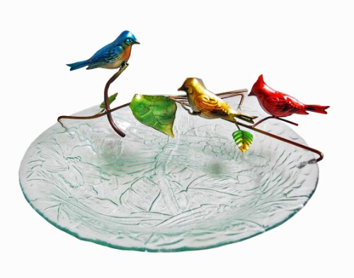 Continental Art Center Cac40209 3-Bird Fountain With Plug In Pump For 18-Inch Glass Birdbath, 16.93 By 9.45 By 5.51-Inch