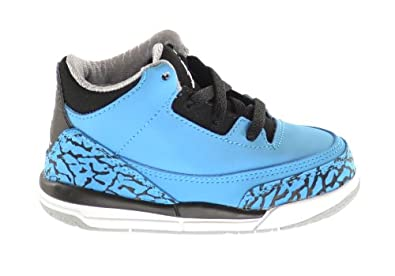 Buy Jordan 3 Retro (TD) Baby Toddlers Basketball Shoes Dark Powder Blue White-Black-Wolf Grey 832033-406 by Jordan