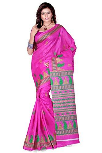 Cenizas Cotton Silk Saree (3304Pnk _Pink)