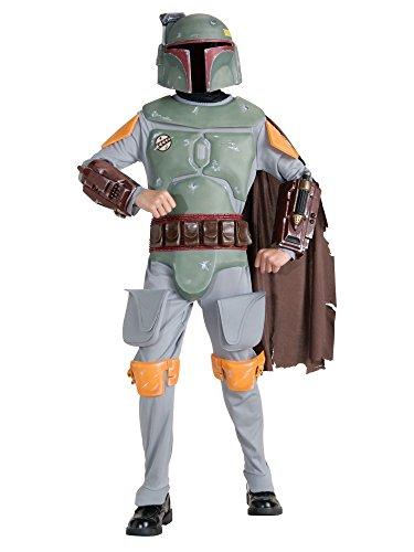 [Boy's Deluxe Boba Fett Star Wars Costume] (Star Wars Boba Fett Girls Costumes)