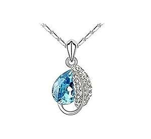 Collier Femme - Cristal - Bleu Lagon - 45 cm
