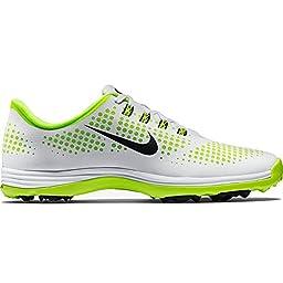 Nike Women\'s Lunar Empress Golf Shoes (Medium) (7 M, White/Black/Volt)