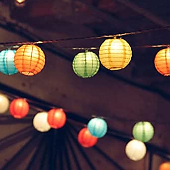 Linyrh 10 Solar Powered Outdoor String Lights Fairy Lights Christmas String