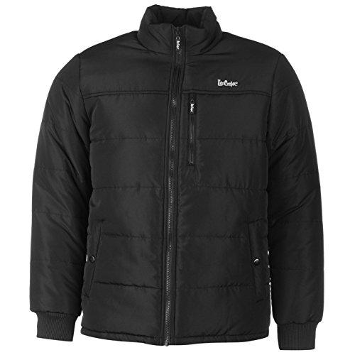 Lee Cooper Solid imbottito giacca da uomo caldo leggero collo alto tempo libero nero X-Large