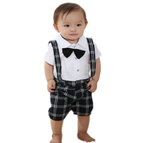 Urparcel Baby Boy Bow-Tie Top T-Shirt Cowboy Shorts Outfit Sets Overall 0-3Y