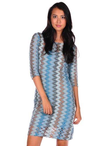 Bb Dakota Women'S Larisa Dress, Blue, Large