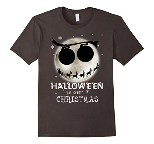 [Men's Halloween Is Our Christmas T-shirt 3XL Asphalt] (Boogie Man Nightmare Before Christmas Costumes)
