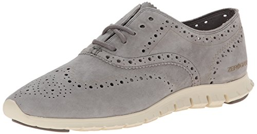 Cole Haan Women's Zerogrand Wing Ox Oxford, Ironstone Suede, 8 B US