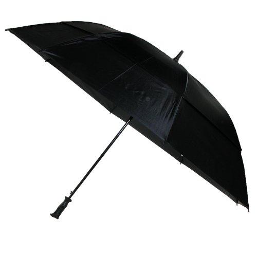Totes Vented Canopy Auto-Open Golf Stick Umbrella, Black