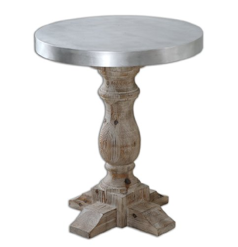 Polished Aluminum Martel Table 24323