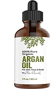 Virgin Argan Oil ★ Premium Quality 100% ECO Certified Organic For Hair, Skin, Face & Nails - Best Moroccan Anti-Aging, Anti-Wrinkle, Anti-Oxidant Beauty Secret - Prevents Frizz & Increases Natural Hair Shine & Silkiness - Natural Skin Care Products for Women and Men - Nature's Best Beard Oil - Moisturizer for Dry Skin & Cuticles - Pure Oil not a Cream or Serum - USDA & EcoCert Certified - ONE YEAR Satisfaction Guarantee
