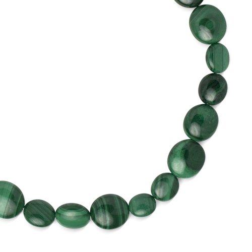 Southwest Spirit Sterling Silver Malachite Strand Prosperity Necklace
