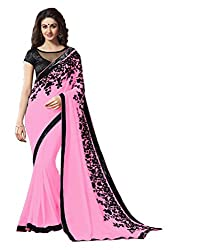 Offo Deals Partywear Traditional Pink Women Saree ss-1807g