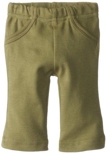 L'Ovedbaby Unisex-Baby Newborn Organic Lounge Pants, Sage-No Logo, 3/6 Months front-770488