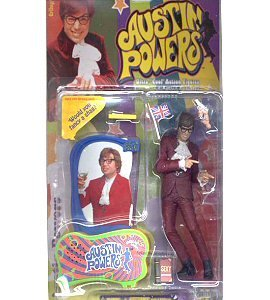 Picture of TMP International Austin Powers Action Figure with Vocal Chip in Display Base That Says