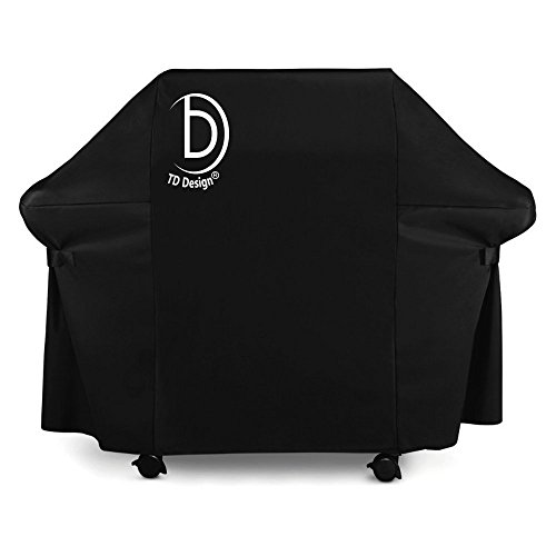 TD Design Medium 58 Inch Gas Grill Cover Barbecue Smoker/Grill Covers for Weber (Genesis), Holland, Jenn Air, Brinkmann, Char Broil (Pu Pu Grill compare prices)