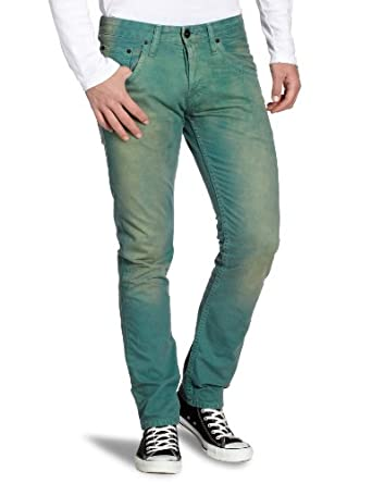 TOM TAILOR Denim Herren Hose 64001500012/skinny coloured 5-pkt., Gr. 30/34, Grün (7281)