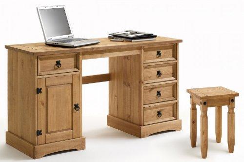 Mexico Möbel Schreibtisch + Hocker im Mexiko Stil, Pinie massiv online bestellen