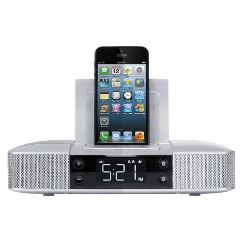 Capello Clock Radio With Lightning Connector - Silver
