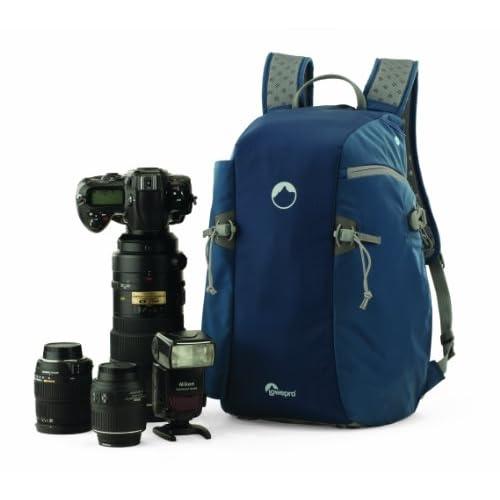 【国内正規品】Lowepro カメラリュック フリップSDスポート15L AW 17L レインカバー 三脚取付可 ブルー×グレー 364235