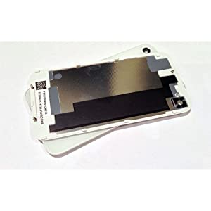 Replacement Glass Back Battery Cover & Frame for iPhone 4S in White for AT&T Sprint Verizon iPHONE 4S USA