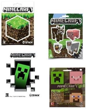 Minecraft Stickers Pin Pack Stocking Stuffer Gift Set Of 13 Items from MOJANG
