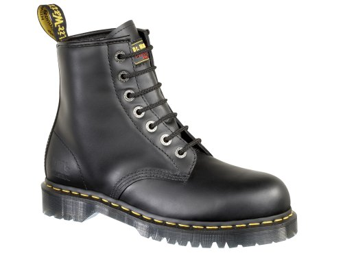 Dr. Marten's Unisex Black Leather Safety 7B10 Boots 11 Uk Regular