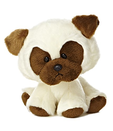 "Aurora World Wobbly Bobblee Brown Pug Plush, 6.5"" Tall"