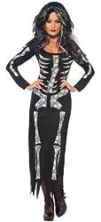 Smiffy's Women's Skeleton Tube Dress Costume