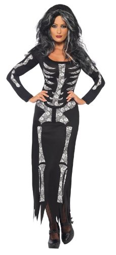 Smiffy's Women's Skeleton Tube Dress Costume