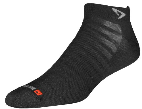 Drymax Run Hyper Thin Mini Crew Socks, Black, Medium
