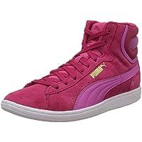 Puma Women's VikkyMid Rose Red and Phlox Pink Sneakers - 6 UK/India (39 EU)