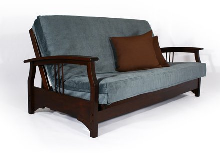Temple Slug Futons Fremont Wall Hugger Dark Cherry Full