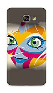 Amez designer printed 3d premium high quality back case cover for Samsung Galaxy A7 (2016 EDITION) (Face coloured)
