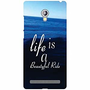 Asus Zenfone 6 A601CG Back Cover - Life Is Beautiful Designer Cases