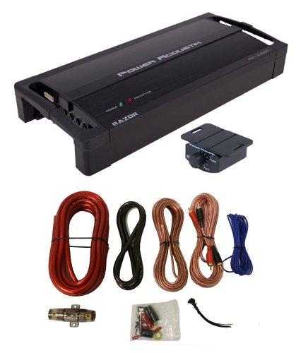 Power Acoustik Rz1-2300D 2300W Monoblock Car Audio Amplifier Rz12300D + Amp Kit