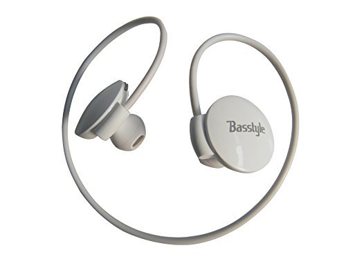 Basstyle TB-1505 Universal Wireless Stereo Headphones for Running and Gym with Flexible Neckband For All Apple iOS Devices and Android Smart Phones like Samsung Galaxy S5 S4 S3 S2 Mini Note 4 3 2 Edge Coolpad BLU Blakberry Classic Google Nexus Motorola Moto G X Sony Ericsson Xperia ZTE Huawei Nokia Lumia Sharp HTC LG OnePlus One (White)