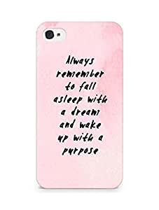 AMEZ always remember to fall asleep with a dream Back Cover For Apple iPhone 4s
