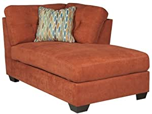 Amazon.com: Ashley Delta City Right Corner Chaise Lounge in Rust