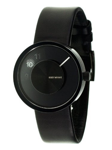Issey Miyake Vue Yves Behar Watch Leather (Black Dial; Leather)