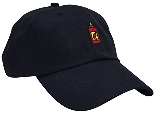 Skyed Apparel HOT SAUCE Embroidery Adjustable Baseball Cap Hat (Black) (Kc Company Smash compare prices)