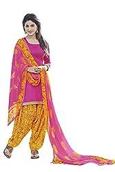 Subhash Sarees Dark Pink Colored Glas Cotton Plain Dress Material