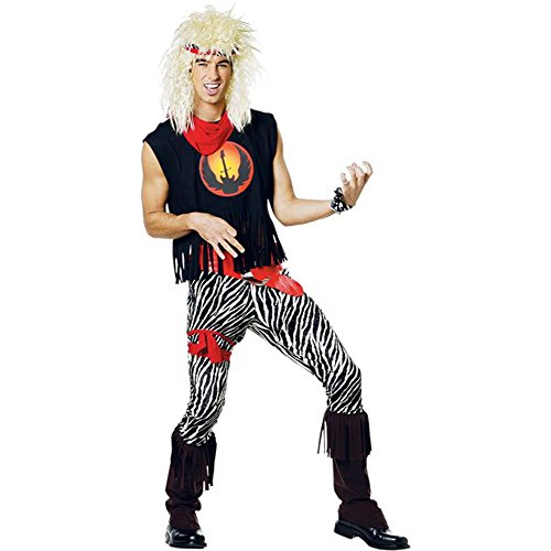 Adult 80s Rock Band Halloween Costume (Size: Standard 44)