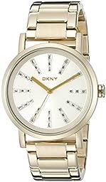 DKNY Women\'s NY2417 SOHO Gold-Tone Watch